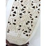 Image of Vintage Cream & Brown Garden Stool