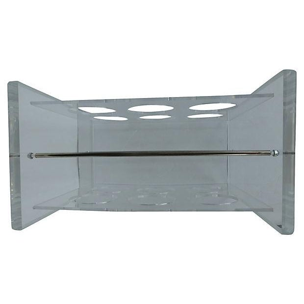 Lucite Wine Rack with Metal Crossbars - Image 5 of 5