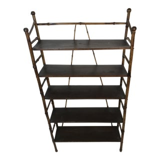 Antique Bamboo Shelves Etagere