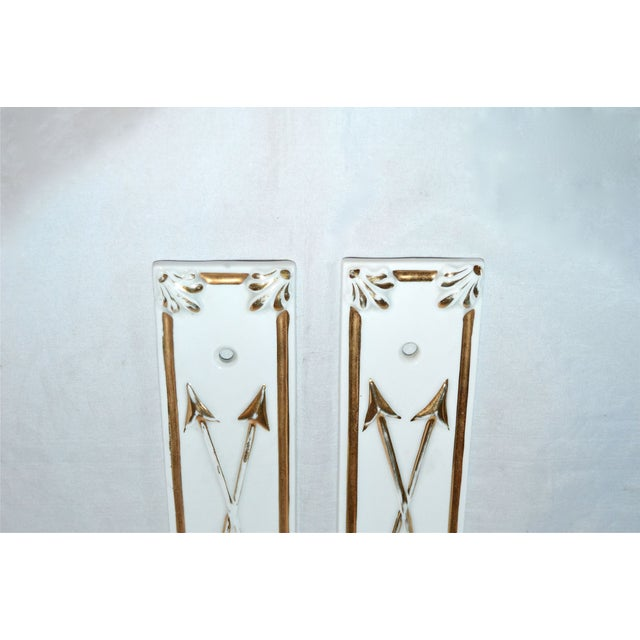 Limoges Golden Arrow Push Plates- A Pair - Image 4 of 9