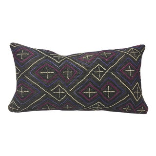 African Kuba Cloth Lumbar Pillow