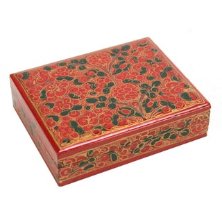 Crimson Kashmiri Jewelry Box