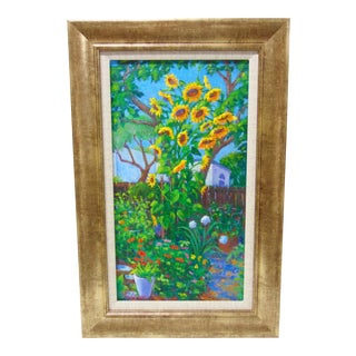 Patricia Musgrave Sunflower Tower Oil Painting