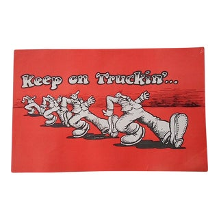 "Vintage R. Crumb ""Keep on Truckin'"" Dayglow Poster"