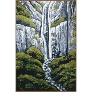 """Newfoundland Falls"" Acrylic on Canvas Painting"