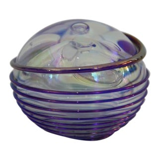 Multi-Colored Art Glass Paperweight