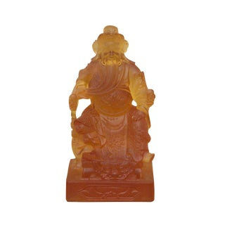 Chinese Liuli Crystal Glass Pate-de-verr General Guan / Kwan Kong Statue