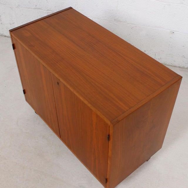 Image of Danish Modern Teak Locking Door Cabinet