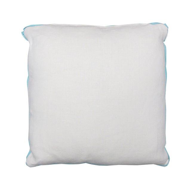 Aqua Bali Isle Linen Pillows- a Pair - Image 4 of 7
