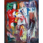 Image of Kaboulov Abstract Red & Orange Painting