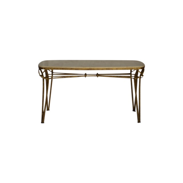 1970s Gold Leaf Console with Travertine Top - Image 1 of 7