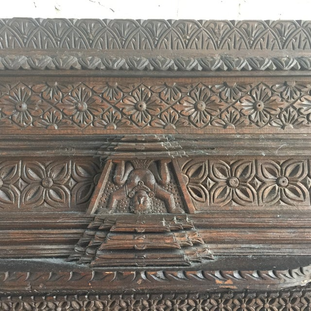 Hand Carved Nepalese Mirror - Image 7 of 8