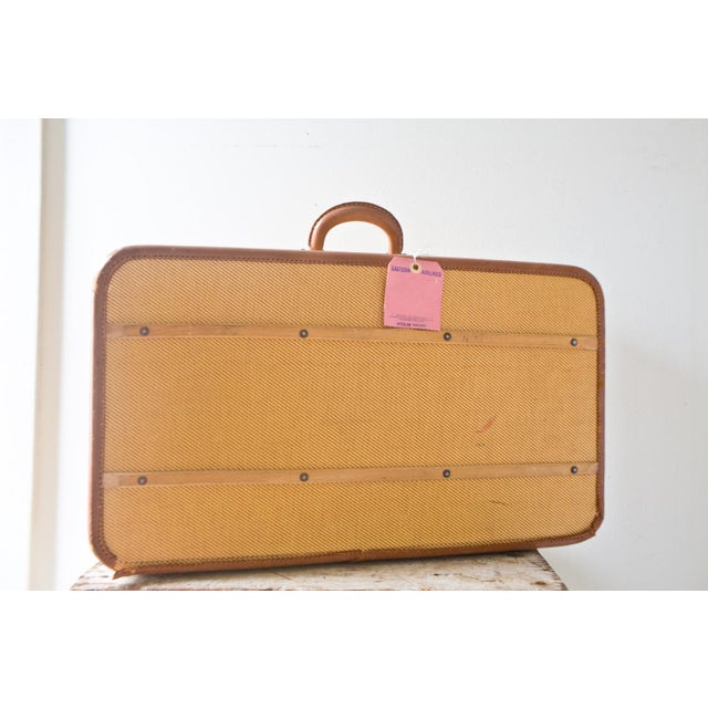 Image of 1950s Vintage Komfy Travel Suitcase Yellow Large