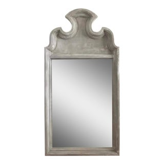 Vintage White & Gray Distressed Wall Mirror