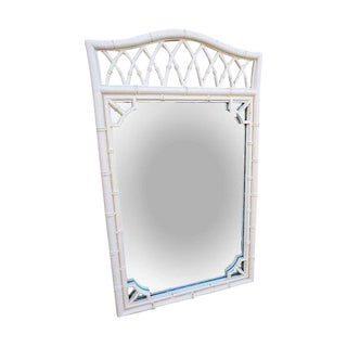 Vintage Lacquered Faux Bamboo Mirror