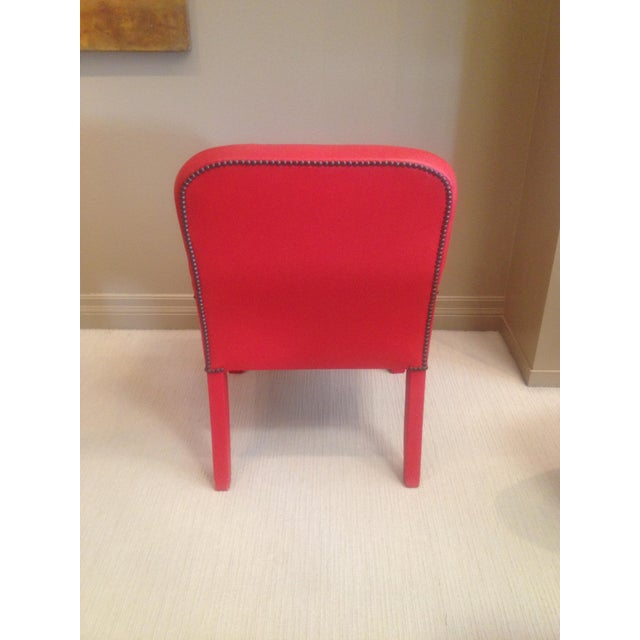 World Market Red Leather Chair: Red Leather Dining Chairs - Set Of 4