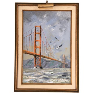 Vintage Golden Gate Bridge Painting