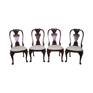 Baker Queen Anne Dining Chairs - Set of 4