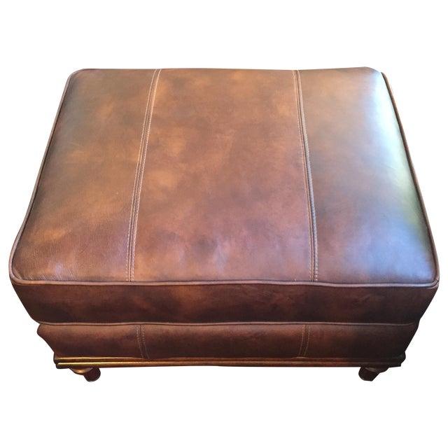 Lexington Brown Leather Ottoman - Image 1 of 8
