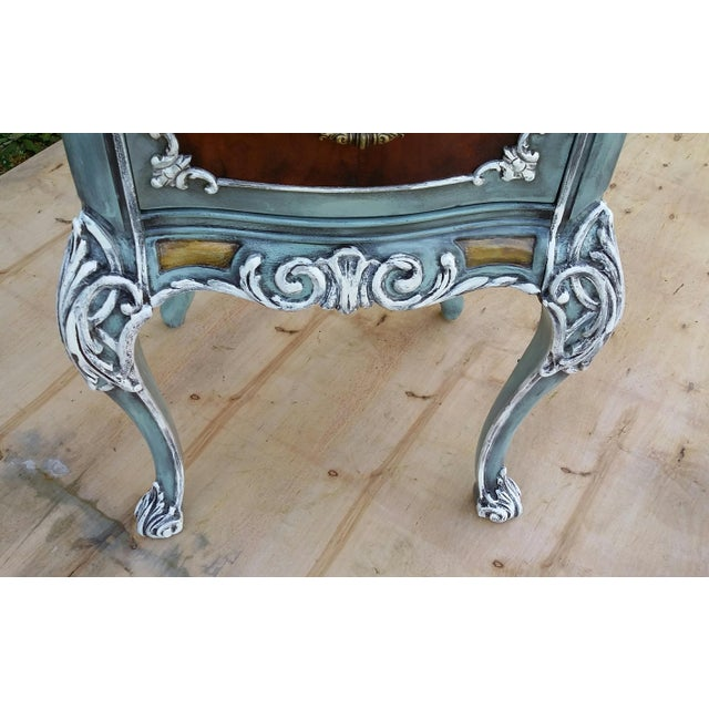 Hand-Painted French Nightstand - Image 7 of 9