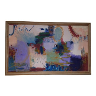 Oversized Contemporary Colorful Abstract Painting