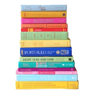 Brightly Colored Decorative Books - Set of 14