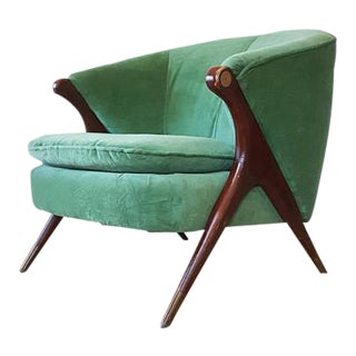 Karpen of California Mid-Century Barrel Club Chair