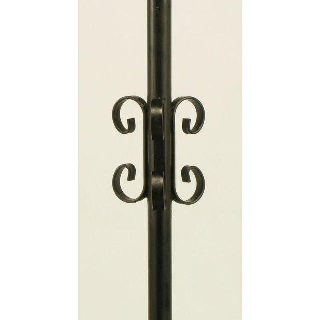 Black Dodecagon Marble & Iron Moorish Floor Lamp - Image 3 of 6