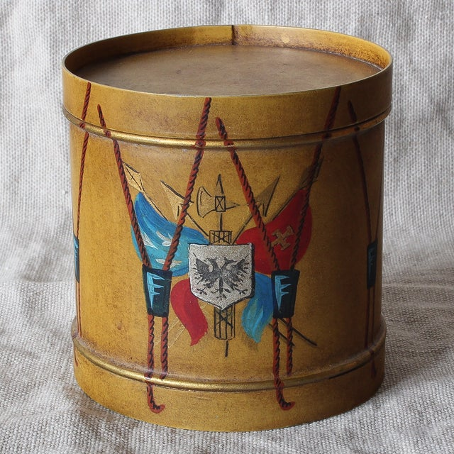 Image of French Toleware Parade Drum Box