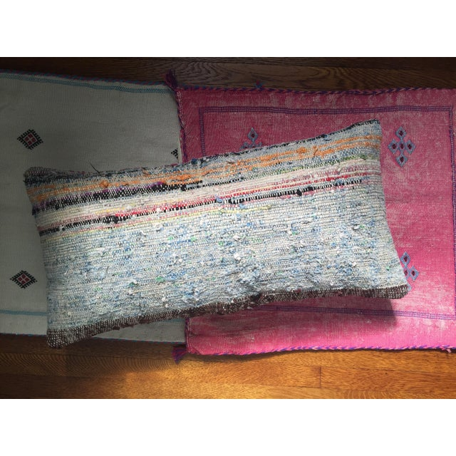 Moroccan Striped Kilim Pillow Cover - Image 9 of 11