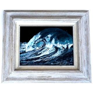 Vintage Framed Ocean Wave Beach Sea Painting