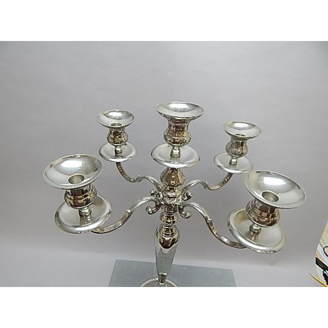 Large Silver Candelabra With Five Arm Candle Holders - Image 3 of 5