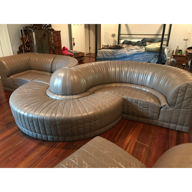 Roche Bobois Leather Sectional Sofa - Image 10 of 11