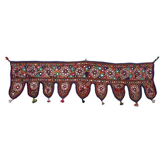 Indian Embroidered Mirrored Valance - Image 1 of 5