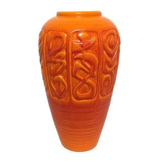 Mid-Century Orange Ceramic Vase by Royal Haeger