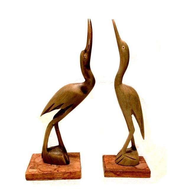 Carved Horn & Bone Bird Sculptures - Set of 4 - Image 4 of 7
