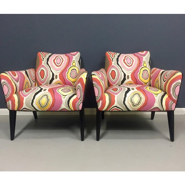 Italian Mid Century Lounge Chairs in the Style of Ico Parisi - a Pair - Image 3 of 9
