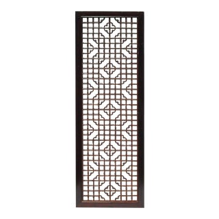 Geometric Floral Wood Screen Panel