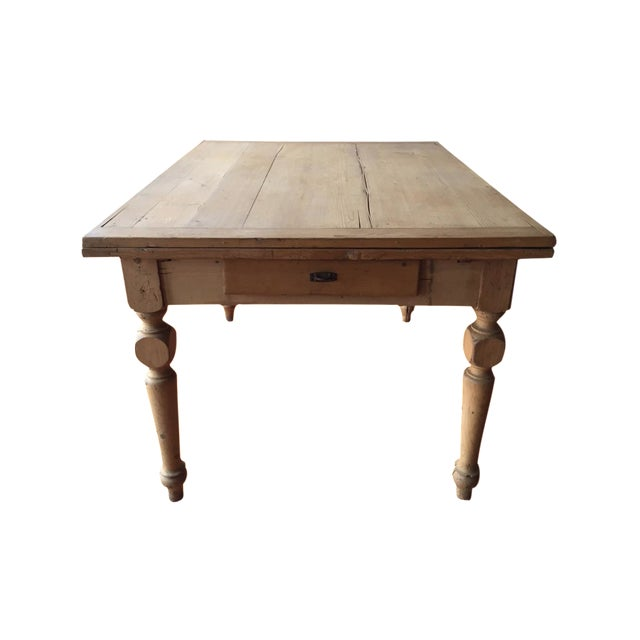 Rustic Italian Antique Dining Table - Image 1 of 9