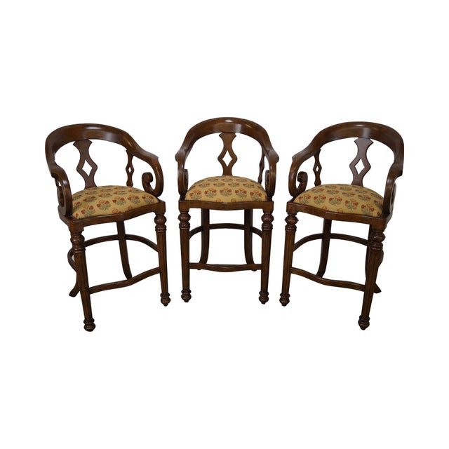 Minton Spidell Empire Style Burgess Barstools - Set of 3 - Image 1 of 10
