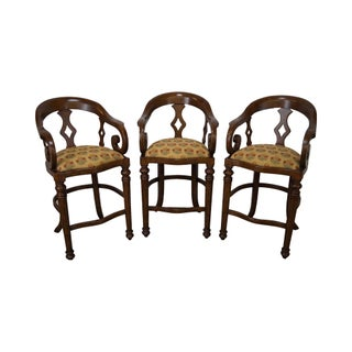 Minton Spidell Empire Style Burgess Barstools - Set of 3