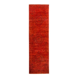 """Vibrance Hand Knotted Runner Rug - 3' 0"""" X 10' 3"""""""