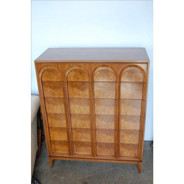 Mid Century Thomasville Sculptural Highboy Dresser - Image 10 of 11