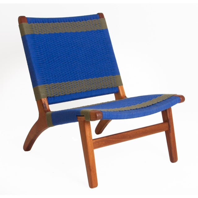 Blue & Gray Woven Lounge Chair - Image 2 of 3
