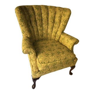 Channel Back Vintage Upholstered Chair