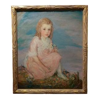Olive Rush Portrait of Louise Block Oil Painting, C. 1900s