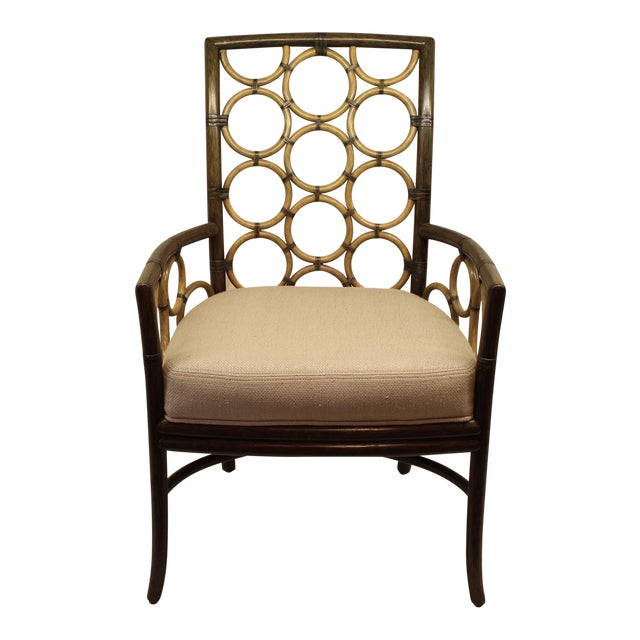 Image of McGuire Laura Kirar Ring Arm Chair