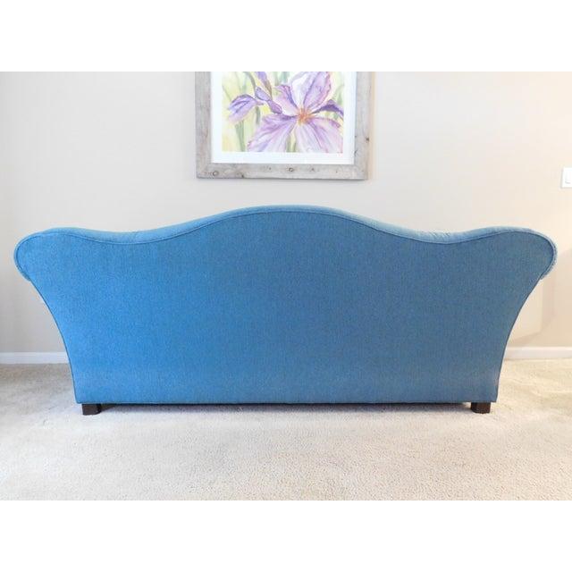 Bernhardt Blue Camel Back Sofa - Image 3 of 4
