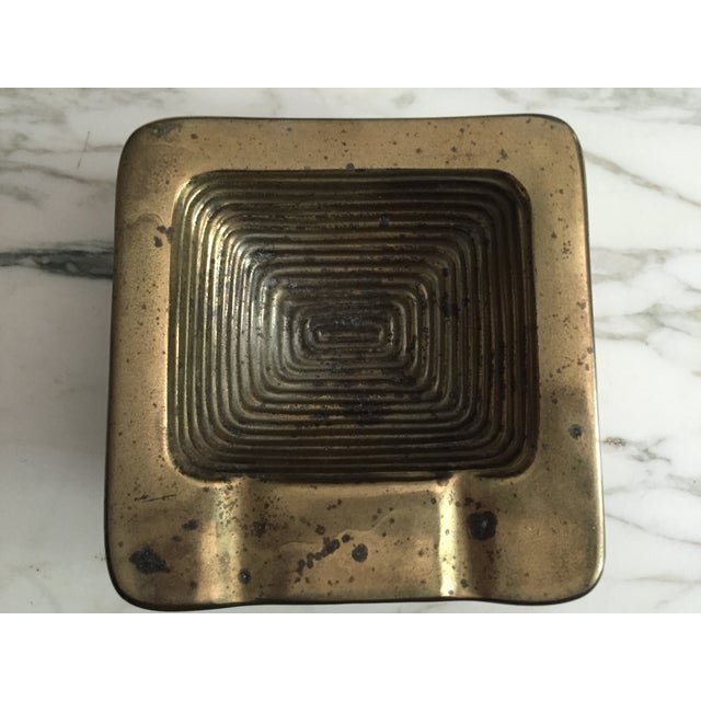 Ben Seibel Brass Square Ashtray - Image 3 of 6