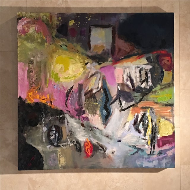 JJ Justice Abstract Oil Painting - Image 6 of 7